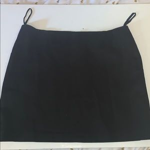 DKNY black cotton mini skirt